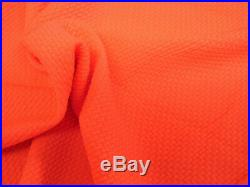 Bullet Textured Liverpool Fabric 4 way Stretch Neon Orange S31