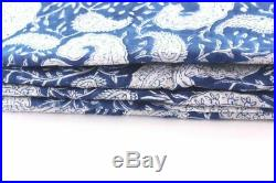 By Yards Cotton Voile One Side Border Printed Fabric White Up to 44 Fabric Lot