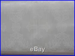 Catholic Cross Brocade Irish Linen Gorgeous Damask Fabric 27 Wide 5-1/3 Yards