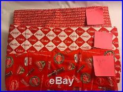 Coca Cola Coke Soda Cotton Fabric Quilting Lot, 3 Prints VHTF NEW 11 2/3 Yard