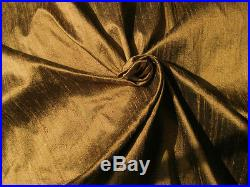 Copper Brown 100% Dupioni Silk Fabric 54 wide Wholesale Lot Bolt Roll 32 Yards
