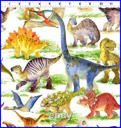 Dinosaur Friends 3DIN-1 In The Beginning Fabrics Lots of Dinosaurs By The Yard