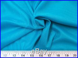 Discount Fabric 108 Aerial Silks Acrobatic Dance Stretch Tricot Aqua Blue TR12