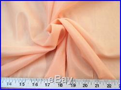 Discount Fabric 108 Aerial Silks Acrobatic Dance Stretch Tricot Lt. Peach TR08
