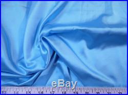 Discount Fabric Charmeuse Silky Bridal Satin Apparel Aqua Blue CS13