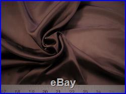 Discount Fabric Charmeuse Silky Bridal Satin Apparel Brown CS09