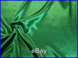 Discount Fabric Charmeuse Silky Bridal Satin Apparel Emerald Green CS19