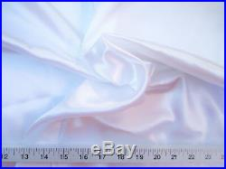 Discount Fabric Charmeuse Silky Bridal Satin Apparel White CS01