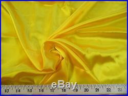 Discount Fabric Charmeuse Silky Bridal Satin Apparel Yellow CS05