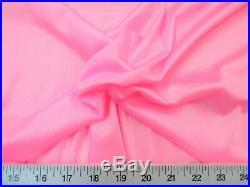 Discount Fabric Nylon 40 Denier Tricot Stretch Bubblegum Pink 108 inch wide TR02