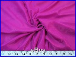 Discount Fabric Nylon 40 Denier Tricot Stretch Magenta108 inch wide TR07