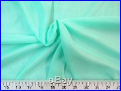Discount Fabric Nylon 40 Denier Tricot Stretch Mint 108 inch wide TR04