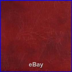 Discount Fabric Richloom Upholstery Distressed Bonded Leather San Loren Red 32PP