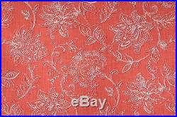 Discount Fabric Richloom Upholstery Drapery Benson Agean Coral Floral 39 MM