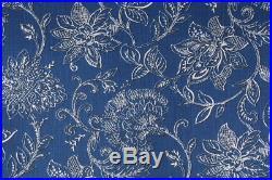 Discount Fabric Richloom Upholstery Drapery Benson Marine Blue Floral 32MM