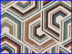 Discount Fabric Richloom Upholstery Drapery Linen Canaan Tuscan Geometric QQ23