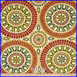 Discount Fabric Richloom Upholstery Drapery Linen Embark Sunset Medallion OO20
