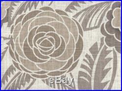 Discount Fabric Richloom Upholstery Drapery Linen Havana Greystone Floral LL31
