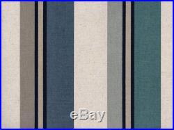 Discount Fabric Richloom Upholstery Drapery Linen Morelli Denim Stripe RR13
