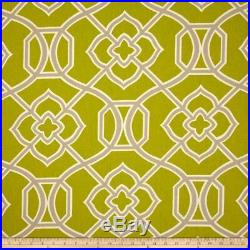 Discount Fabric Richloom Upholstery Drapery Malibar Peridoe Green Geometric MM43