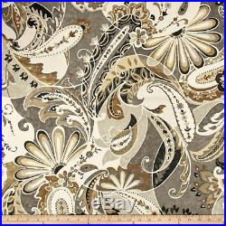 Discount Fabric Richloom Upholstery Drapery Reynard Charcoal Paisley Floral 42MM
