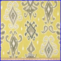 Discount Fabric Richloom Upholstery Drapery Siam Lemonade Ikat Tribal QQ25