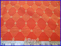 Discount Fabric Richloom Upholstery Drapery Weston Orange Diamond NN44