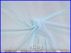 Discount Fabric Stretch Chiffon Powder Blue 108 inches wide 304TR