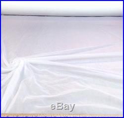 Discount Fabric Stretch Voile White 108 inch Sheer 50 yard Lot