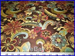 Discount Fabric Upholstery Drapery Floral Splash Godiva Jacquard Floral 10DD