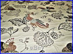 Discount Fabric Upholstery Drapery Multi Colored Jacquard Peacock Floral DD21