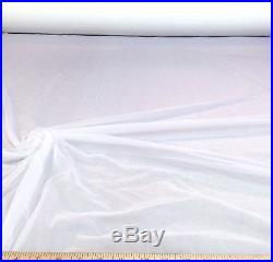 Discount Fabric nylon Tricot White Lustre SheerTM PAY105 50 yard Lot