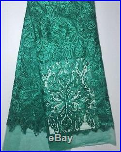 Elegant Embroidery Floral Tulle Bridal Dress Fabric 5yds Lot