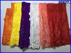 Elegant Floral Embroidery Without- Pearls Bridal Tulle Fabric 5yds Lot