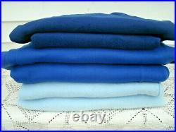 FLEECE FABRIC REMENANTS-Dk Blue/Royal Blue/Lt Blue-Lots of yards