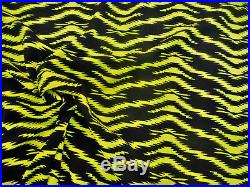 Fabric Printed Bullet Liverpool Textured 4 way Stretch Indian Pyramid Yellow J60
