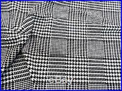 Fabric Printed Liverpool Textured 4 way Stretch Glen Plaid Houndstooth Black J30