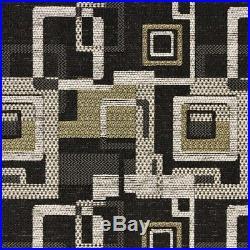 Fabric Richloom Upholstery Drapery Cutaway Ebony Black Jacquard Yarn Dye FF43