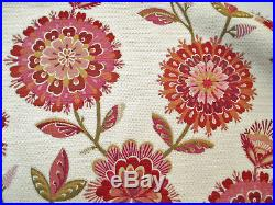 Fabric Richloom Upholstery Drapery Periwinkle Fuchsia Chenille Floral GG33