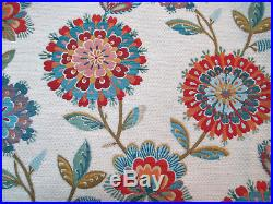 Fabric Richloom Upholstery Drapery Periwinkle Jewel Chenille Floral GG41