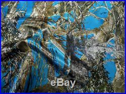 Fabric True Timber Camo MC2 Blue Charmeuse Silky Bridal Satin CS23