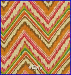 Fabric Upholstery Drapery Waverly Dena Designs Chevron Charade Gypsy Ikat FF24
