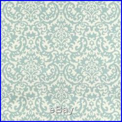 Fabric Upholstery Drapery Waverly Duncan Spa Blue Damask Floral DD43