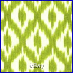Fabric Upholstery Drapery Waverly Williamsburg Dedra Pistachio Ikat Lattice DD26
