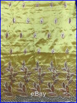 French Net Laces Beaded George Lace Fabric Swiss Cotton Sequins Fabric Party 5+2