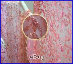 Gorgeous Embroidery Floral Bridal Dress Tulle Fabric 5yds Lot