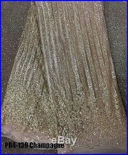Gorgeous Sparkle Glitter Soft Tulle Bridal Dress Mesh Lace Fabric 5yds Lot