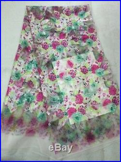 Gorgous French Floral Bridal Tulle Lace Fabric 5yds Lot