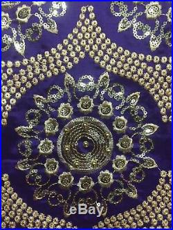 George Lace Fabric African Cotton Silk Bridal Sequins Fabric Dresses with Beaded