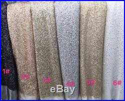 Gorgeous Embroidered Squince Tulle Bridal Mesh Lace Fabric 5yds Lot